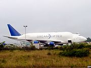 Three Dreamlifter 747s are used to transport 787 fuselage sections.