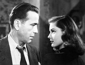 The Big Sleep (1946 film) - Philip Marlowe (Bogart) and Vivian Rutledge (Bacall) square up to each other.