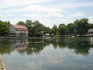 Boiling Springs, Pennsylvania - Children's Lake, in the center of Boiling Springs