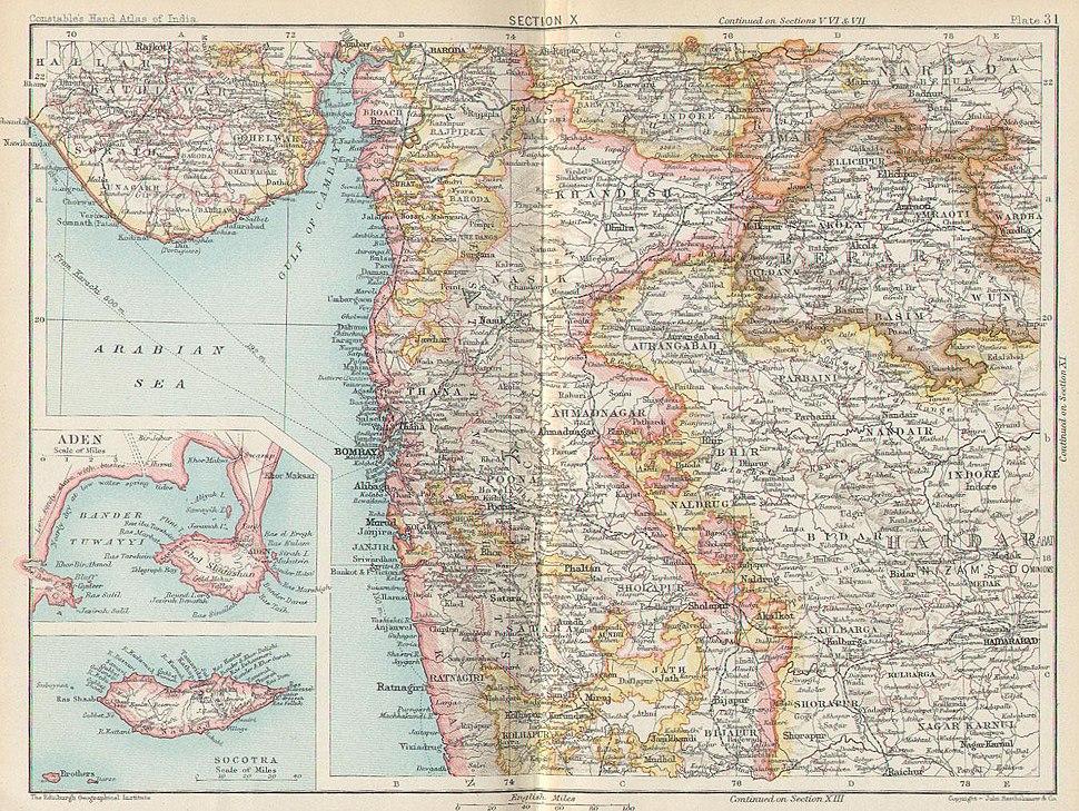 Bombay, Berar, Aden (1893)