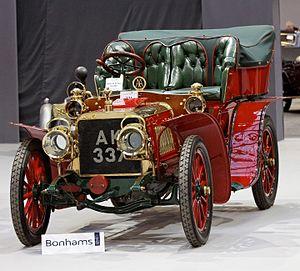 "Automobiles Darracq France - Darracq's famous ""flying"" Fifteen rear entrance tonneau body"