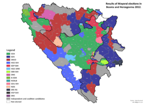 Bosnian municipal elections, 2012 - Image: Bosnia and Herzegovina, mayoral elections, 2012