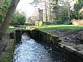 Bournemouth Gardens, stream and water tower - geograph.org.uk - 669493.jpg