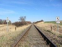 Brüel Bahnstrecke Wismar-Karow 2014-03-11.JPG