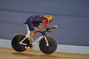 Lee Valley VeloPark - Bradley Wiggins during his successful Hour record attempt at the Velodrome