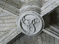 Brantôme ancienne église clé de voûte (1).JPG