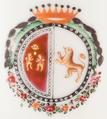 Brasão de armas de José de Seabra da Silva (Porcelana da China, Período Qianlong, c. 1755).png