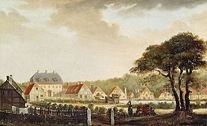 Brede House - Brede Gouse seen on a painting from 1798