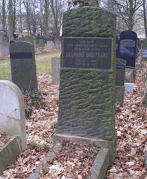 Zishe Breitbart - The grave of Siegmund  Breitbart at Adass Jisroel graveyard, Berlin.