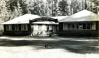 Breitenbush, Oregon - The Breitenbush Hot Springs Hotel was operated by the Skiff family at the Lower Springs