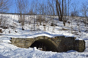 National Register of Historic Places listings in Cambria County, Pennsylvania - Image: Bridge in Portage Township with snow