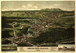 Bird's eye view of 1888 Bridgton