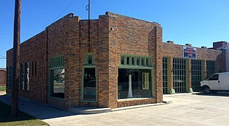 National Register of Historic Places listings in Creek County, Oklahoma - Image: Bristow Firestone Service Station Bristow Ok