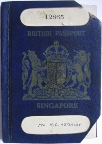 Singapore passport - Image: Brit singapore passport