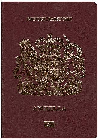 British passport (Anguilla) - The front cover of a biometric Anguillian passport