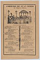 Broadsheet relating to the death of Juan Dimio, crowd of people gathered around a gazebo while a man wearing a top hat looks out toward viewer MET DP874523.jpg