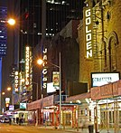Broadway Theaters line West 45th Street in Manhattan's Theater District.
