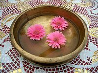 Bronze bowl pink flowers.jpg