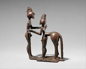 Bronze man and centaur