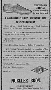 1a4ae8aa8d375 1920 ad for Bruxshu Gymnasium Shoes. Brooks Sports ...
