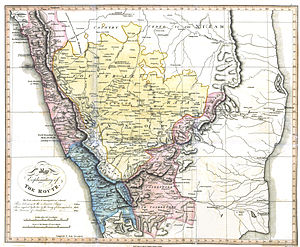 Francis Buchanan-Hamilton - Map illustrating Buchanan-Hamilton's journey through southern India