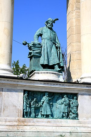 Rhineland massacres - Statue of Coloman, Heroes' Square, Budapest, Hungary