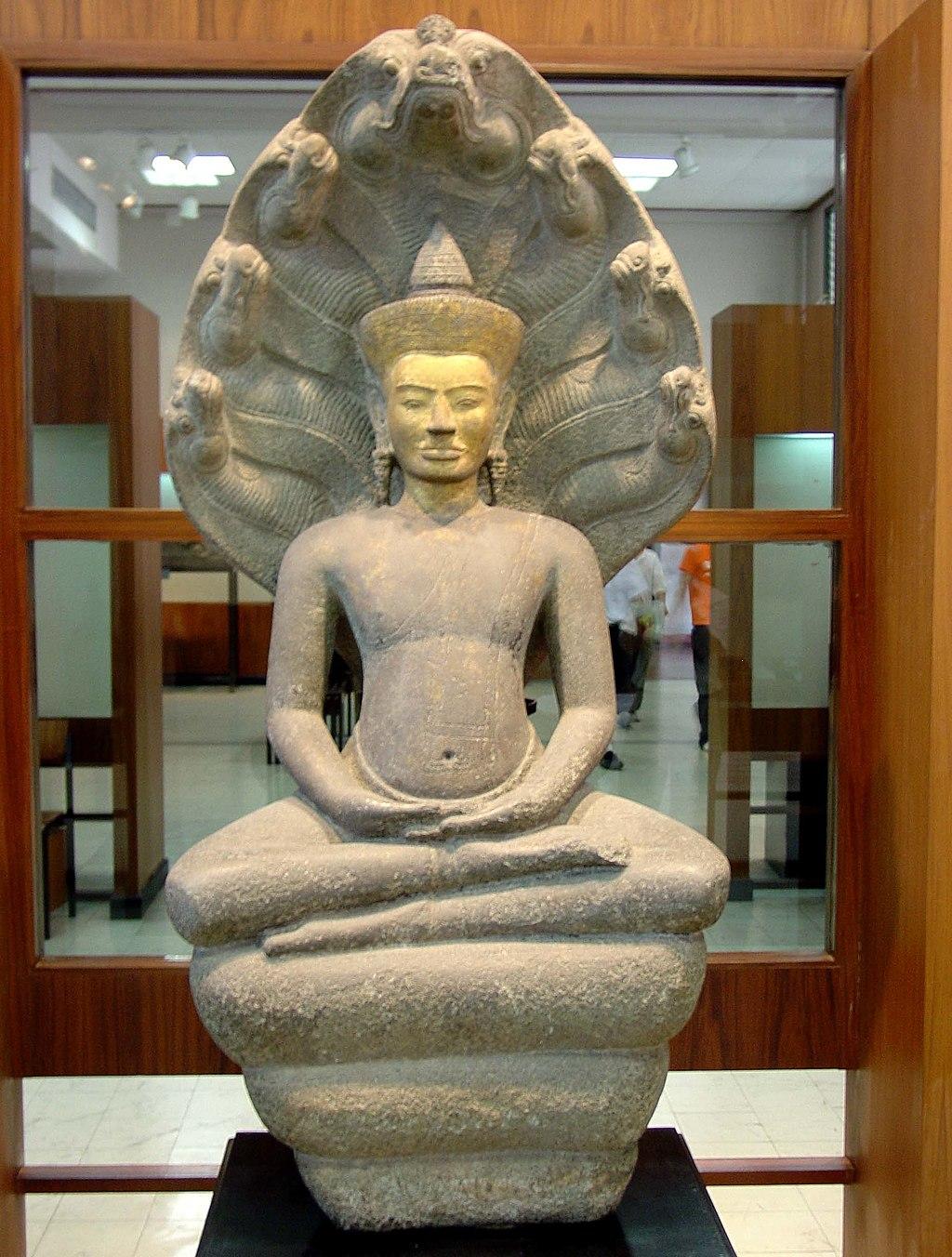 Buddha Protected by Mucalinda. Bangkok National Museum, b075