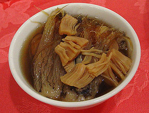 Jinhua ham - Jinhua ham is an ingredient in the dish Buddha Jumps Over the Wall (above)