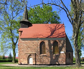 Kołobrzeg - St John's Church, the remains of an early medieval settlement in modern Budzistowo