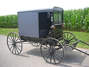 The Amazing Race 8 - At the Amish community in Pennsylvania, one of the detour choices was a buggy course.
