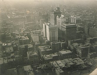 Financial District, Toronto - The Financial District from the air, 1920.