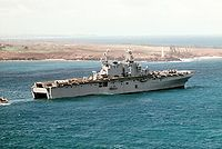 USS Belleau Wood commanded by Brigadier General Joseph V. Medina