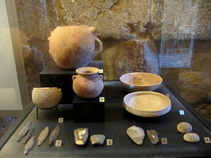Byblos Castle - Exhibits at the museum inside the Byblos Castle.