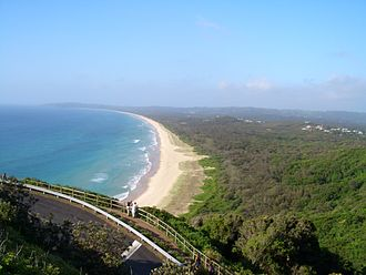 Byron Bay, New South Wales - Tallow Beach looking south from the lighthouse