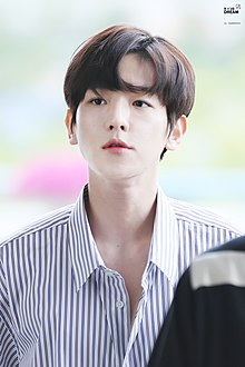 Byun Baek-hyun, departing from Gimpo Airport on June 6, 2017.jpg