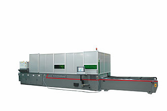 Fiber laser - A laser cutting machine with a 2 kW continuous wave fiber laser