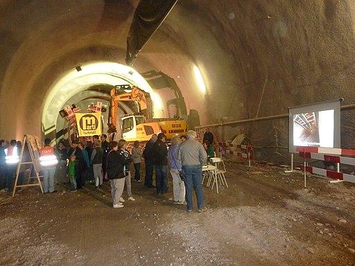 Portes ouvertes des 26 et 27 septembre 2015 sur les lieux des travaux du CEVA au lieu-dit Val d'Arve.