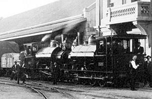 CGR 2-6-0ST 1900 - PEHB engines I and J at Port Elizabeth