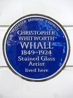 Christopher whitworth whall 1849 1924 stained glass artist lived here