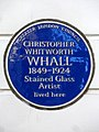CHRISTOPHER WHITWORTH WHALL 1849-1924 Stained Glass Artist lived here.jpg