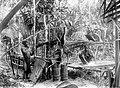 COLLECTIE TROPENMUSEUM Sagobereiding bij Loloda Halmahera Noord-Molukken TMnr 10011501.jpg