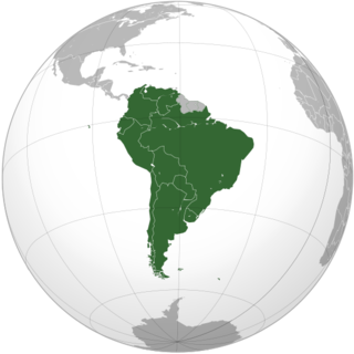 Countries that are members of CONMEBOL CONMEBOL orthographic projection Mapa CONMEBOL.png