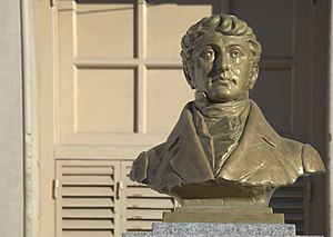 Head of the bust of Manuel Belgrano, Tandil, Argentina