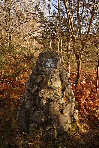 Independent Highland Companies - Cairn marking the site of the Battle of Mulroy where Kenneth Mackenzie of Suddie was killed leading his Independent Highland Company