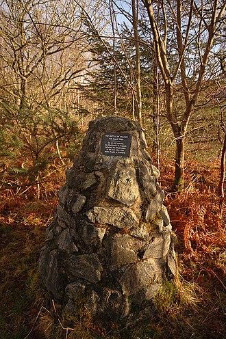 Battle of Maol Ruadh - Cairn at roadside near Maol Ruadh, site of the Battle of Mulroy