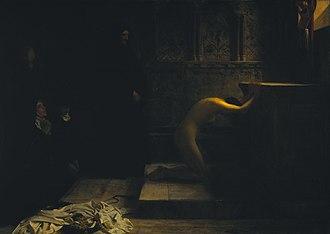 1891 in art - Image: Calderon Philip Hermogenes St Elizabeth of Hungary