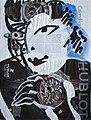 Calendrier Hublot, 2012. Acrylique sur des pages du Temps du 7 mars 2012. 60,5 sur 45 cm.jpg