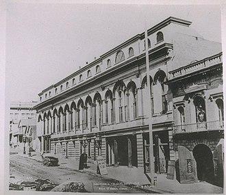 California Historical Landmarks in San Francisco - Image: California Theatre San Francisco ca 1870