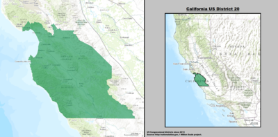 California's 20th congressional district - since January 3, 2013.