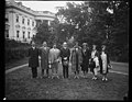 Calvin Coolidge and group outside White House, Washington, D.C. LCCN2016888061.jpg